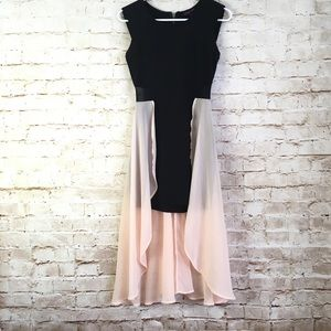 Material Girl Small Pink and Black Part Dress